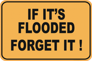 wet weather - if it's flooded forget it